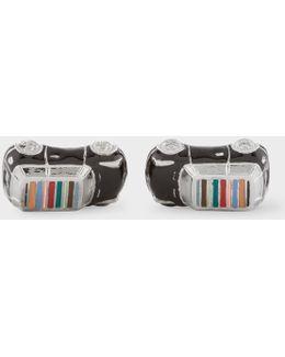 Men's 3d Signature Stripe Roof Mini-car Cufflinks