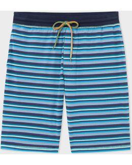 Men's Blue Stripe Jersey Shorts