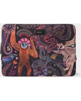 """'monkey' Print 13"""" Laptop Sleeve"""
