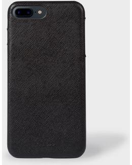 Black Saffiano Leather Iphone 7 Plus Case