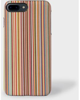 Artist Stripe Leather Iphone 7 Plus Case