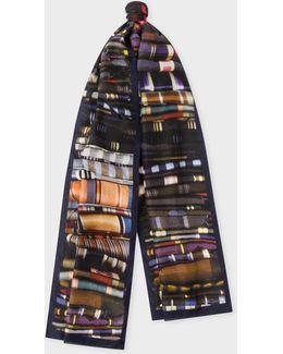 Men's 'tie' Print Silk Scarf