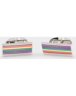 Men's Rainbow Stripe Cufflinks