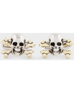 Men's Skull And Crossbones Cufflinks