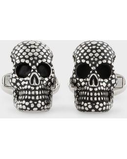 Men's Dotted Skull Cufflinks