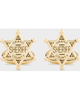 Men's Sheriff Badge Cufflinks