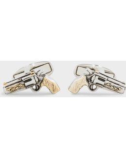 Men's Toy Gun Cufflinks
