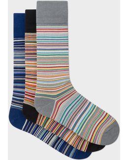 Men's Signature Stripe Socks Three Pack