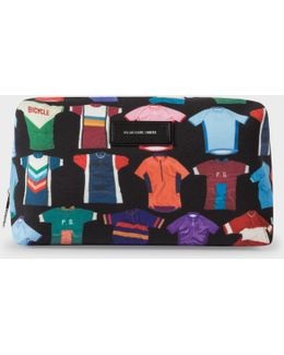 Men's 'cycle Jersey' Print Wash Bag