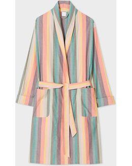 Men's 'artist Stripe' Cotton Dressing Gown