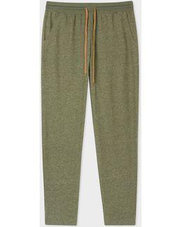 Men's Khaki Jersey Cotton Lounge Pants