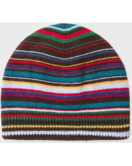 Men's Signature Stripe Wool-blend Beanie Hat