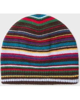 Men's Signature Stripe Wool-blend Beanie Hat