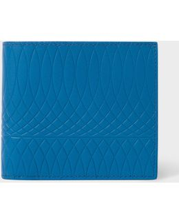 No.9 - Blue Leather Billfold Wallet With Multi-coloured Interior