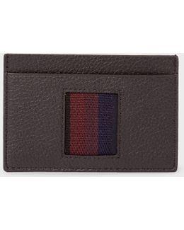 Men's Black 'city Webbing' Leather Credit Card Holder