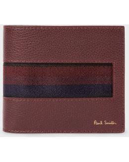Men's Burgundy 'city Webbing' Leather Billfold Wallet