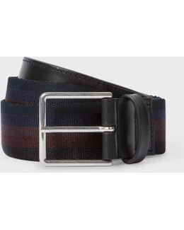 Men's Webbing Stripe Belt