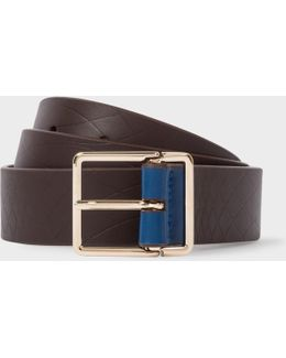 No.9 - Men's Chocolate Leather Belt With Contrast End