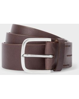 Men's Chocolate Brown Leather Belt