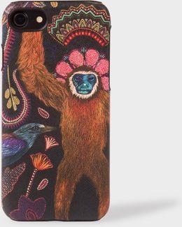 'monkey' Print Leather Iphone 7 Case