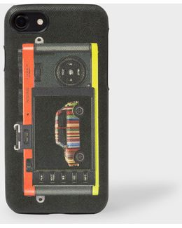 Burgundy Saffiano Leather Iphone 7 Case