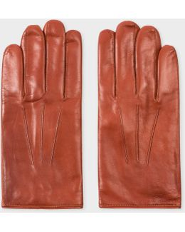 Men's Tan Leather Gloves