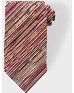 Men's Signature Stripe Silk Tie