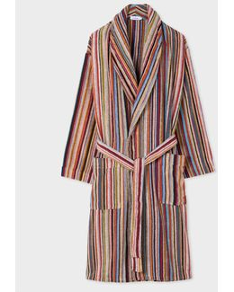 Multistripe Terry Robe