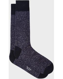 Men's Navy Glittered Socks