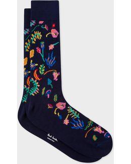 Men's Multi-colour 'earth Floral' Socks