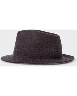 Men's Slate Grey Wool Hat