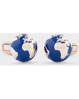 Men's Globe Cufflinks
