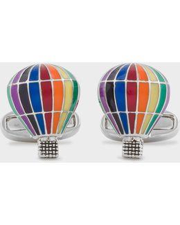 Men's Bright Hot Air Balloon Cufflinks