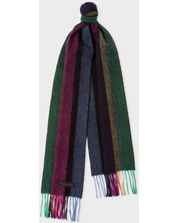 Men's 'cycle Stripe' Lambswool Scarf