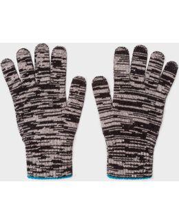 Men's Black Space Dye Wool Gloves