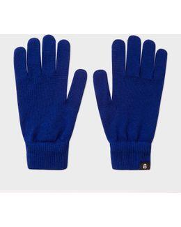 Men's Cobalt Blue Merino Wool Gloves