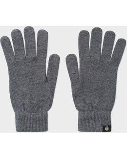 Men's Grey Merino Wool Gloves