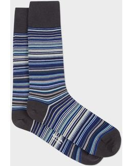 Men's Sky Blue Signature Stripe Socks