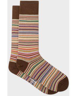Men's Narrow Signature Stripe Socks