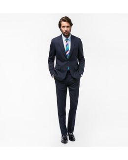 The Soho - Men's Tailored-fit Navy Wool 'suit To Travel In'