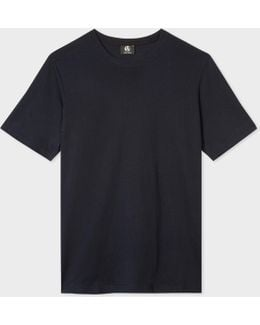 Men's Plain Navy Organic-cotton T-shirt