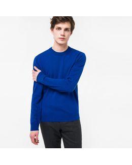 Men's Indigo Cashmere Sweater