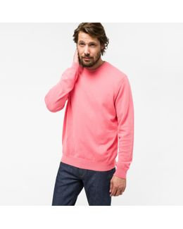 Men's Pink Cashmere Sweater