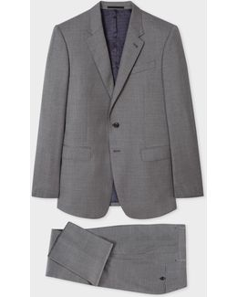 The Byard - Men's Tailored-fit Grey Wool Suit