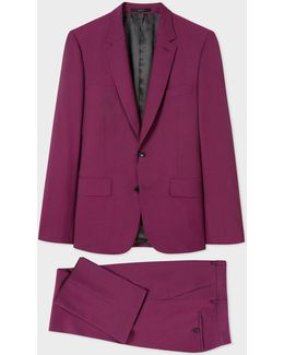 The Soho - Men's Tailored-fit Purple Wool-mohair Three-piece 'suit To Travel In'