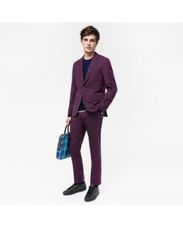 The Soho - Men's Tailored-fit Damson Wool 'suit To Travel In'