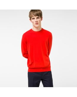 Men's Red Cashmere Sweater