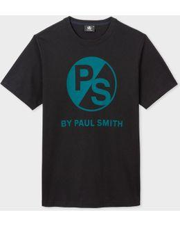 Men's Black Ps Logo Organic-cotton T-shirt