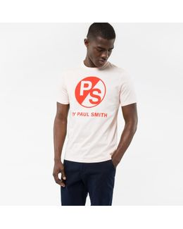 Men's Peach Ps Logo Organic-cotton T-shirt