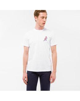 Men's White Organic-cotton Small 'dino' Print T-shirt